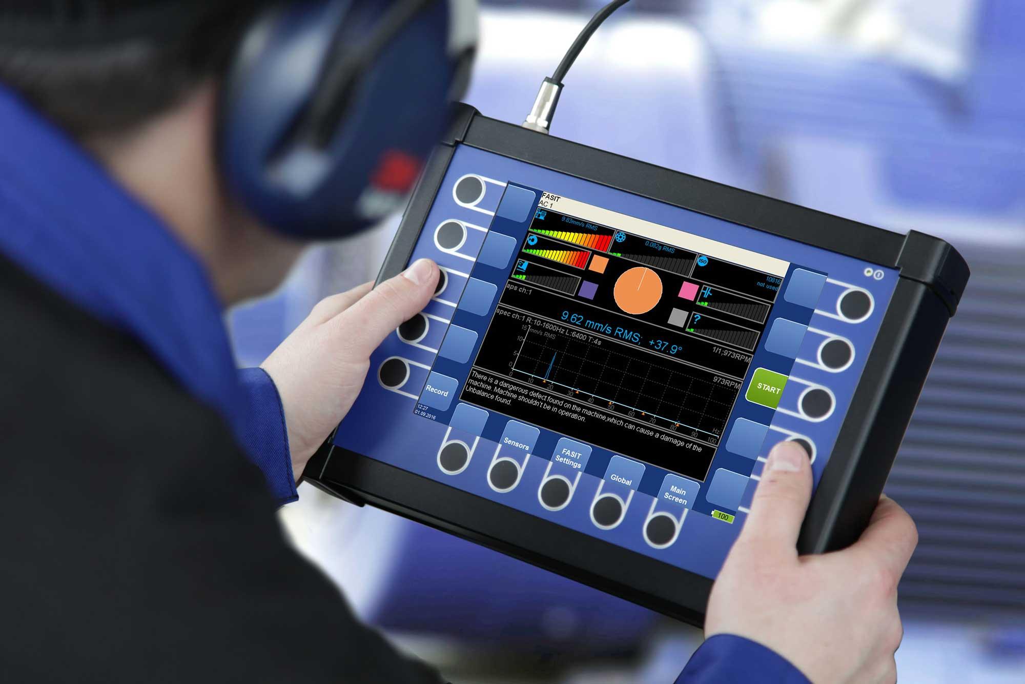 analisador de vibrações modo de funcionamento
