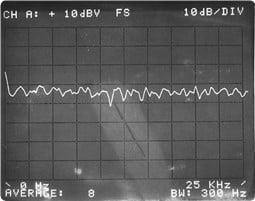 38 a) Ruído aleatório no analisador de vibrações